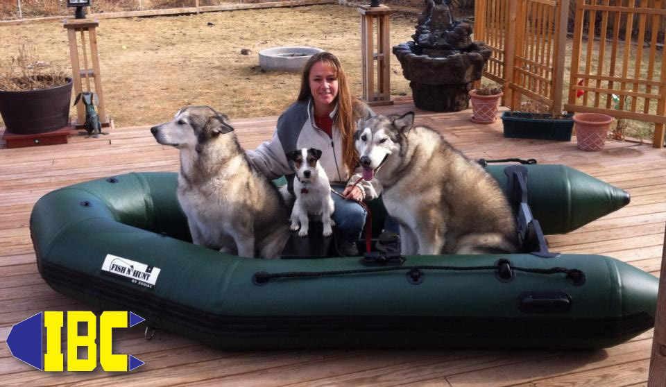 Colorado resident Tanya and her crew  with their new Zodiac Fish N Hunt available only from IBC
