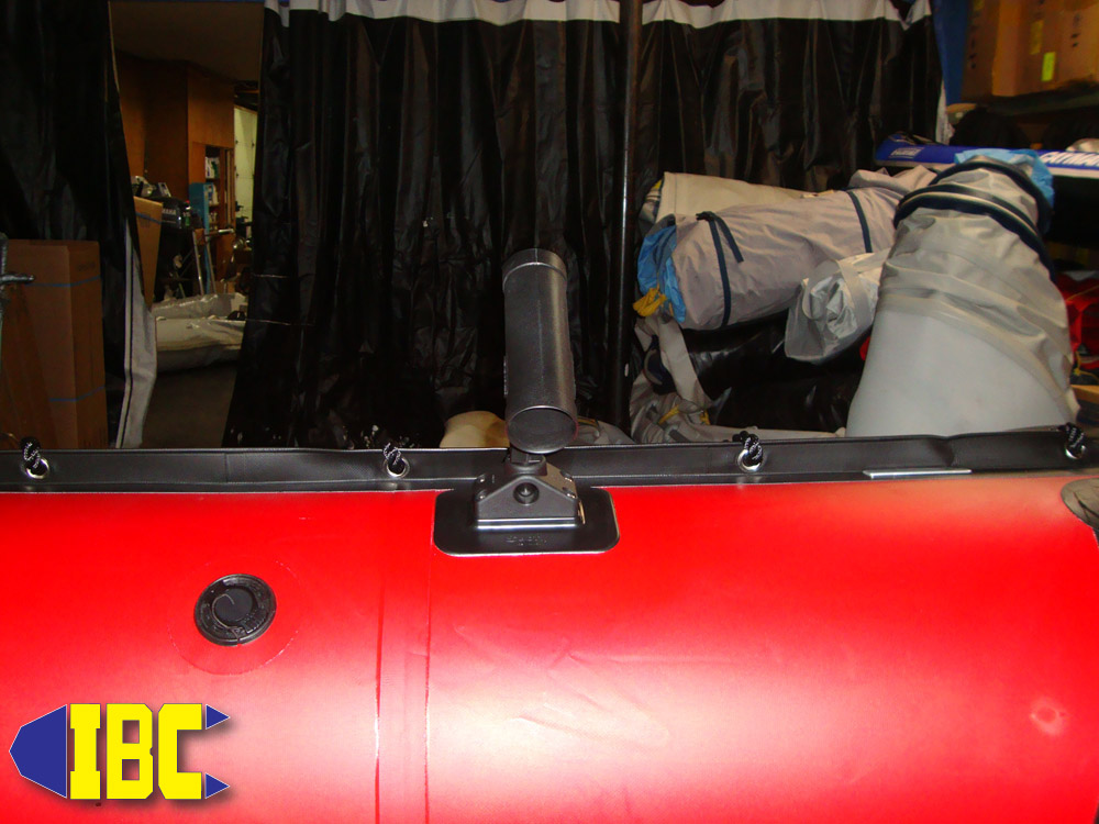rod holder installed inboard