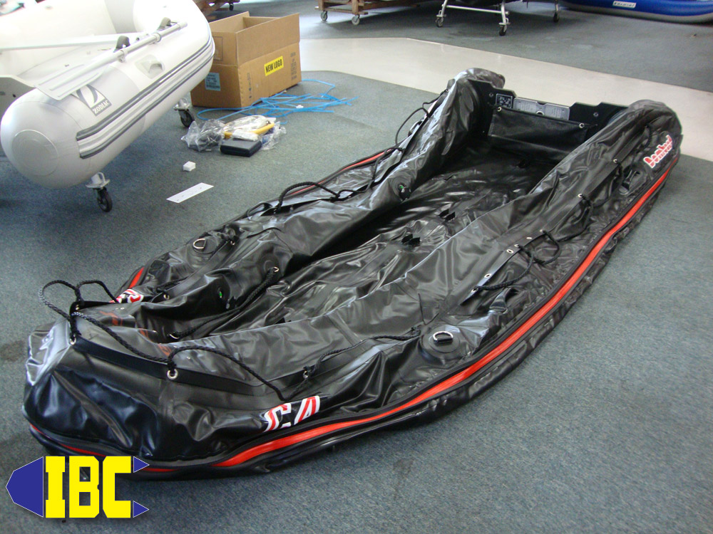 Deflate your boat to prepare for assembly