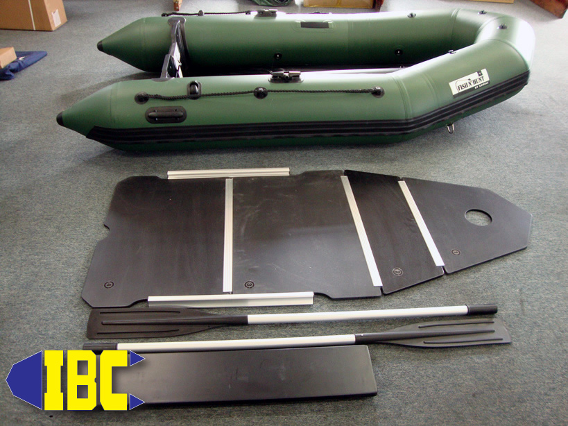 While you are stretching your boat for the first assembly lay ouy the floorboards, stringers, oars and seat.