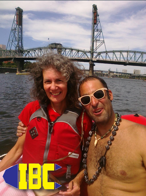 Portland City Commissioner Amanda Fritz rides along with IBC and Will (Big Float Organizer) IBC Pilot: Adam Fry