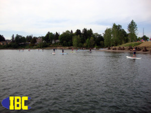 SUP boarders City of Milwaukie Oregon Waterfront Park
