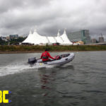 "Adam going to the ""Big Float"" event in downtown Portland Oregon in a Zodiac MK2C"