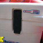 Engel Deep Blue Cooler comes with a built in bottle opener.