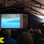Laura Dekker awes and inspires a full house at Portland Yacht Club with her tales of her record setting solo circumnavigation.